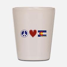 Peace Love Colorado Shot Glass