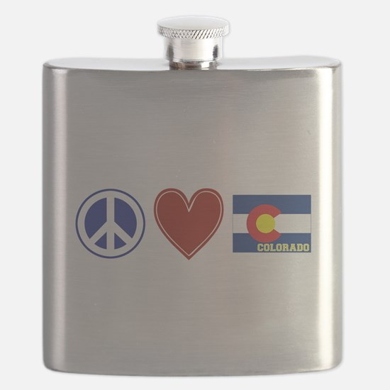 Peace Love Colorado Flask