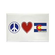 Peace Love Colorado Rectangle Magnet