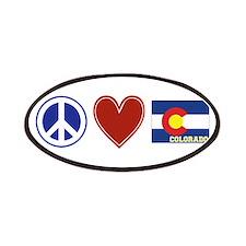 Peace Love Colorado Patches