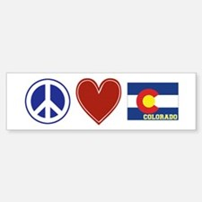 Peace Love Colorado Bumper Bumper Sticker