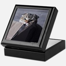 Noodles the cat - moving box Keepsake Box