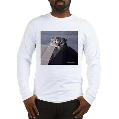 Noodles the cat - moving box Long Sleeve T-Shirt