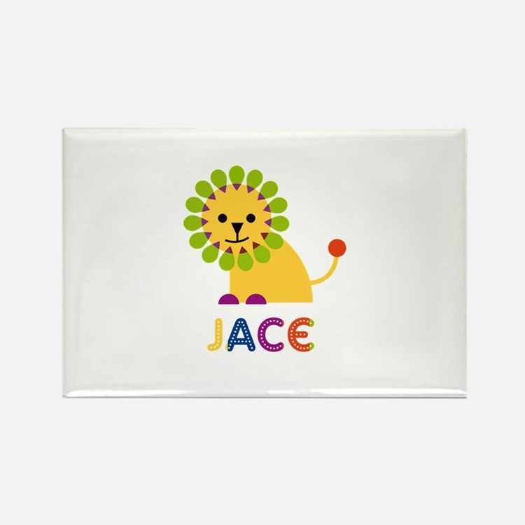 Jace Loves Lions Rectangle Magnet