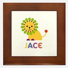 Jace Loves Lions Framed Tile