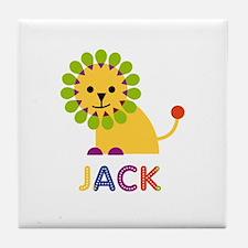 Jack Loves Lions Tile Coaster