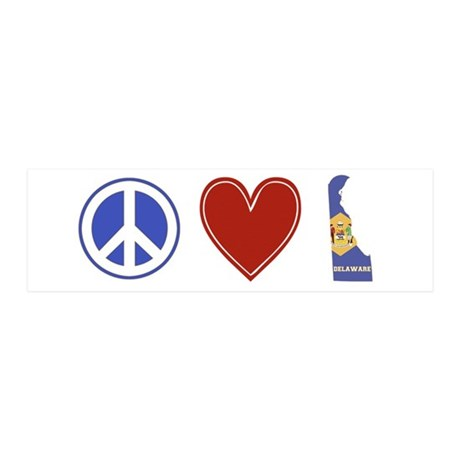 Peace Love Delaware 36x11 Wall Decal