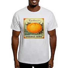 Zydeco Orange Wine Grey T-Shirt