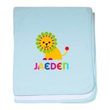 Jaeden Loves Lions baby blanket