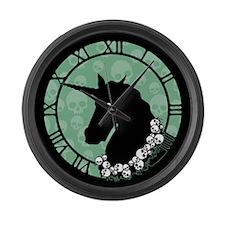 Unicorn With Skulls Large Wall Clock