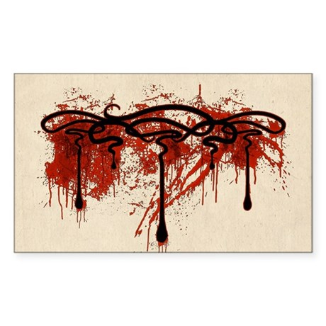 Art Nouveau Blood Motif Sticker (Rectangle)