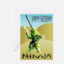 Ninja Happy Birthday Greeting Card