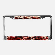 Art Nouveau Blood Motif License Plate Frame