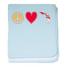 Peace Love Florida baby blanket