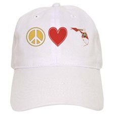 Peace Love Florida Baseball Cap