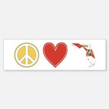 Peace Love Florida Bumper Bumper Sticker