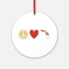 Peace Love Florida Ornament (Round)