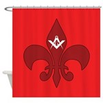 Masonic Fleur De Lis Shower Curtain