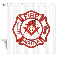 MASONIC FIRE-FIGHTER Shower Curtain