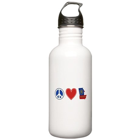 Peace Love Georgia Stainless Water Bottle 1.0L