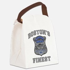 Cute Boston Canvas Lunch Bag