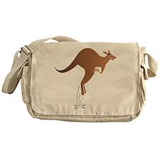 Cute kangaroo mom and baby Messenger Bag