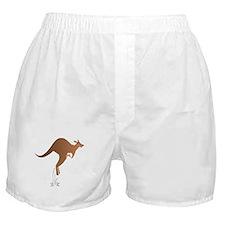 Cute kangaroo mom and baby Boxer Shorts