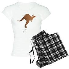 Cute kangaroo mom and baby pajamas