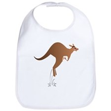 Cute kangaroo mom and baby Bib