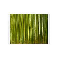 Bamboo abstract 5'x7'Area Rug