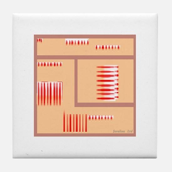 Line Dazzle Tile Coaster