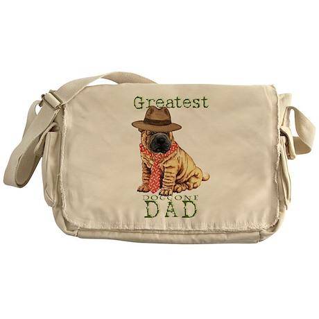Shar-Pei Dad Messenger Bag