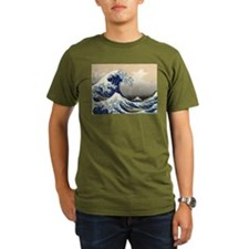 The Great Wave by Hokusai T-Shirt