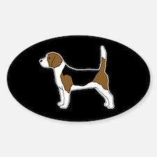 Beagle Sticker (Oval)