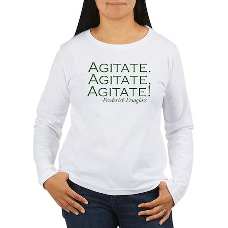 "Frederick Douglass ""Agitate!"" Women's Long Sleeve"