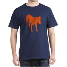 Bo Sillhouette T-Shirt (orange on navy)
