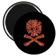 Bacon Skull and Crossbones Magnet