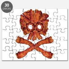 Bacon Skull and Crossbones Puzzle