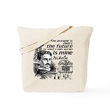 The Future Is Teslas Tote Bag