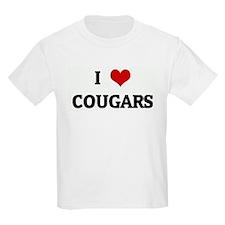 I Love COUGARS Kids T-Shirt