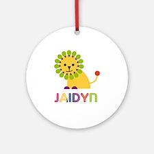 Jaidyn Loves Lions Ornament (Round)