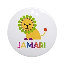 Jamari Loves Lions Ornament (Round)
