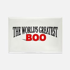 """The World's Greatest Boo"" Rectangle Magnet"
