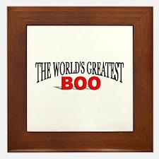 """The World's Greatest Boo"" Framed Tile"