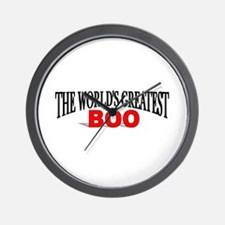 """The World's Greatest Boo"" Wall Clock"