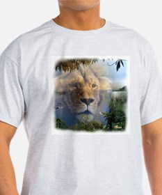 Lion and Lamb Ash Grey T-Shirt