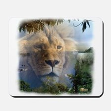 Lion and Lamb Mousepad