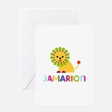 Jamarion Loves Lions Greeting Card