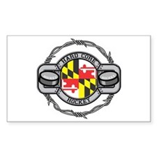 Maryland Hockey Rectangle Decal