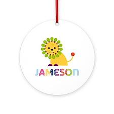 Jameson Loves Lions Ornament (Round)